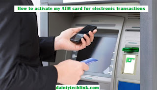 Electronic transactions at the ATM