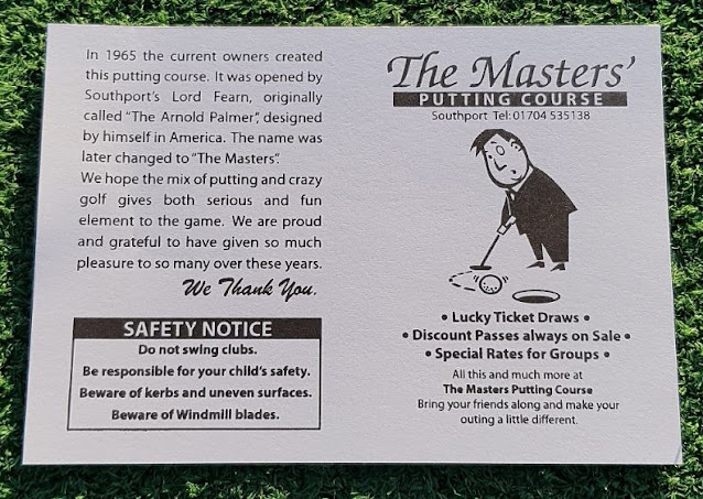 The Masters Putting Course in Southport was one of the first Arnold Palmer Putting Courses to open in the UK