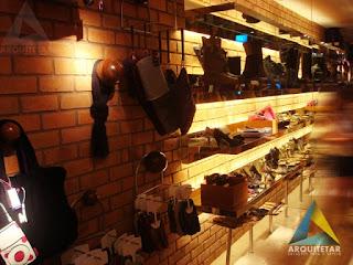 projeto arquitetura visual merchandising loja calçados femininos