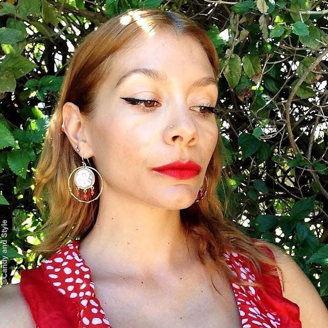 Red Lips + Eyeliner Makeup Look