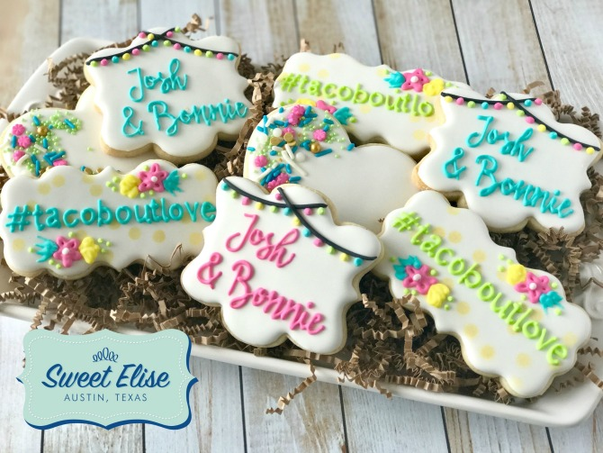Fiesta Shower Cookie Favors