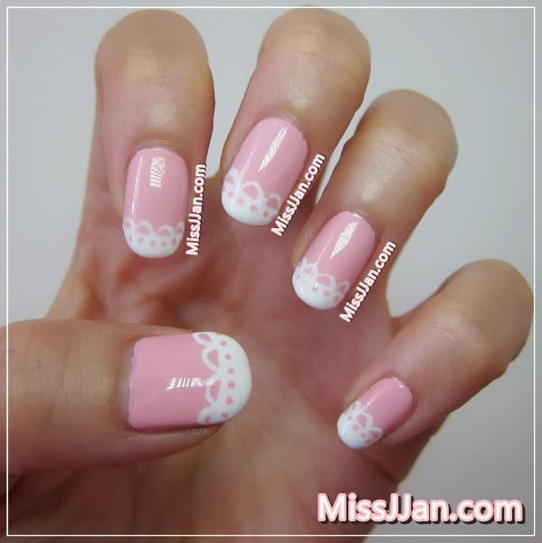 missjjans beauty blog �� simple lace nails