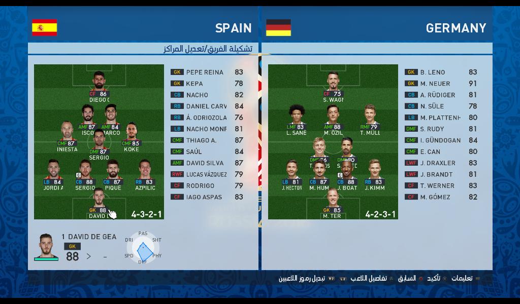 PES 2017 MiniFace Spain WC2018 By EsLaM