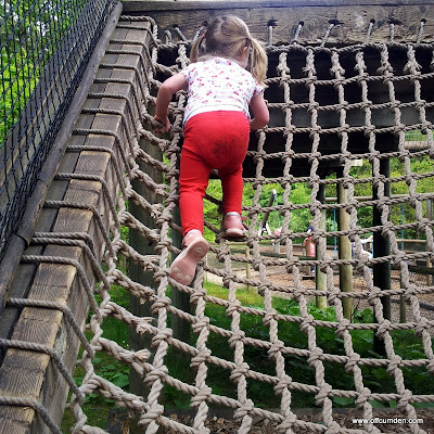 climbing in the adventure playground