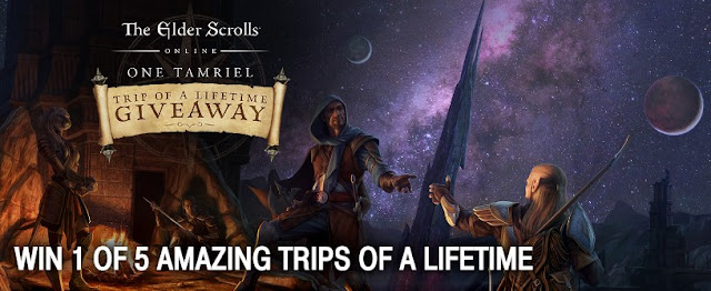 The Elder Scrolls Online Game is giving players a chance to enter once to win the vacation of a lifetime worth $30,000 and there will be 1000 runner up winners, too!