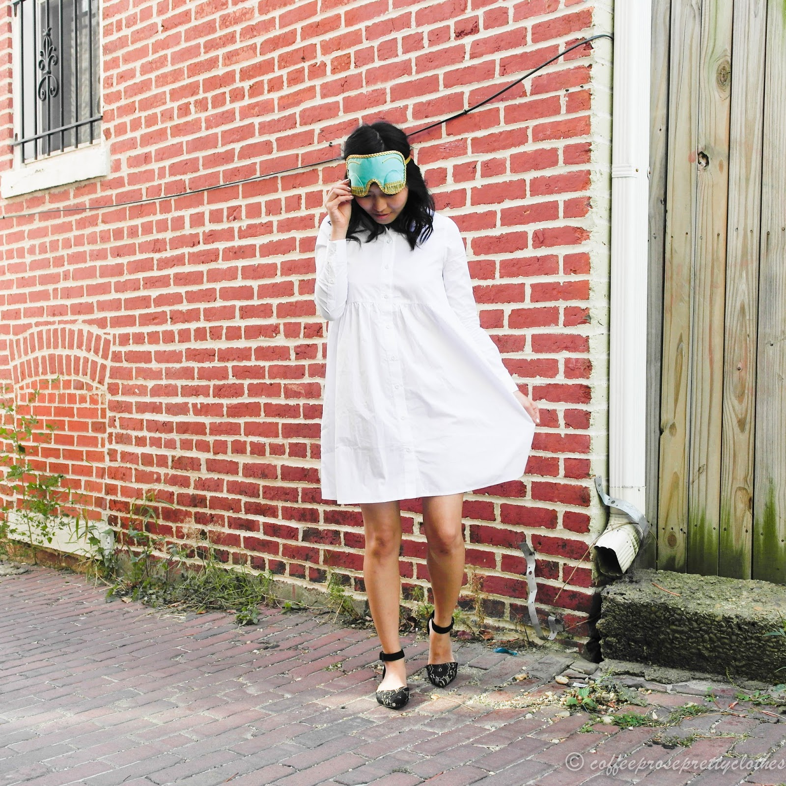 Holly Golightly sleep mask shirtdress