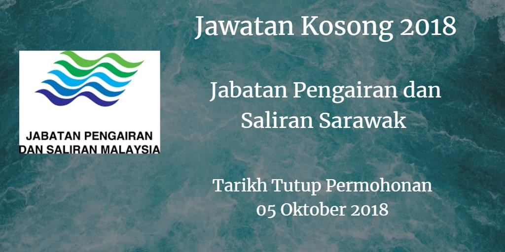 Jawatan Kosong Jabatan Pengairan dan Saliran Sarawak 05 Oktober 2018