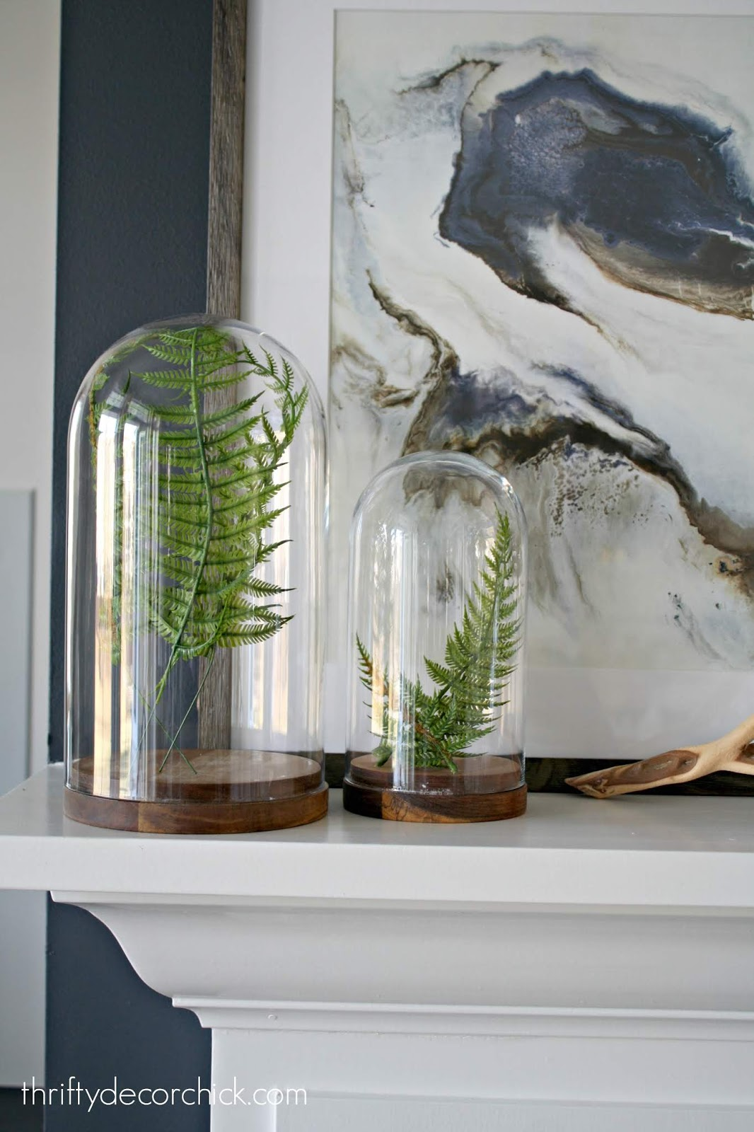 how to decorate with glass cloches