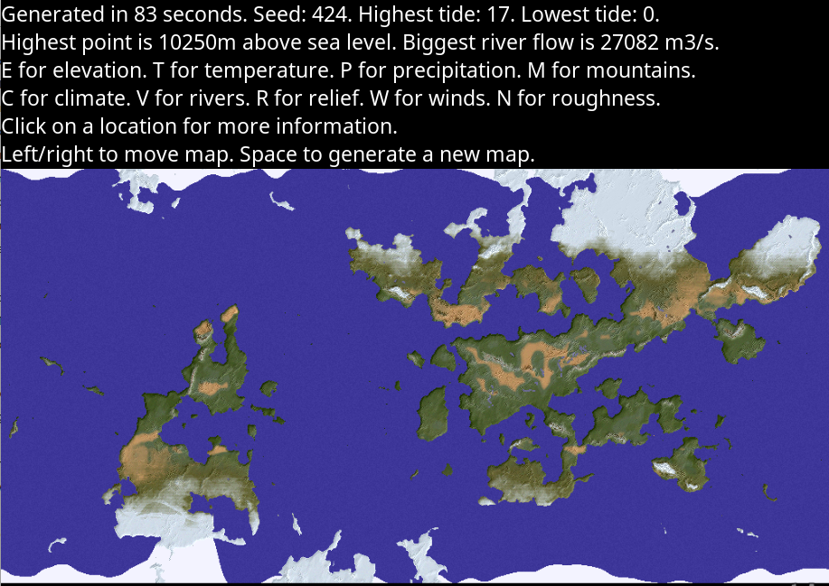 Undiscovered Worlds: a procedural terrain generation project