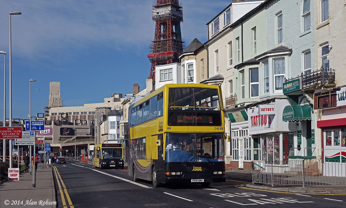 Blackpool Tram Blog: Contraflow Bus Lane opens on Central ...