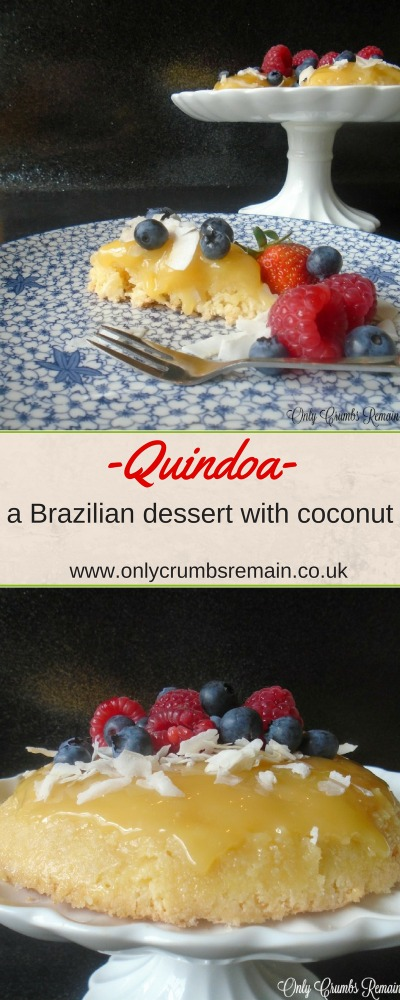 This easy to make Quindoa, a traditional Brazilian dessert, is easy to make and results in a delicious coconut packed dessert.