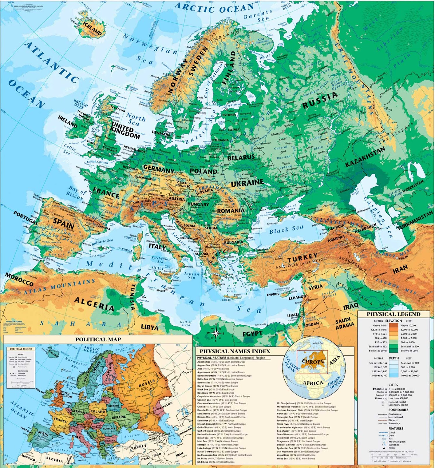 Expedition Earth Maps of the world