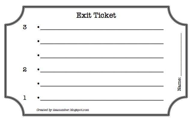 exit ticket clipart - photo #27