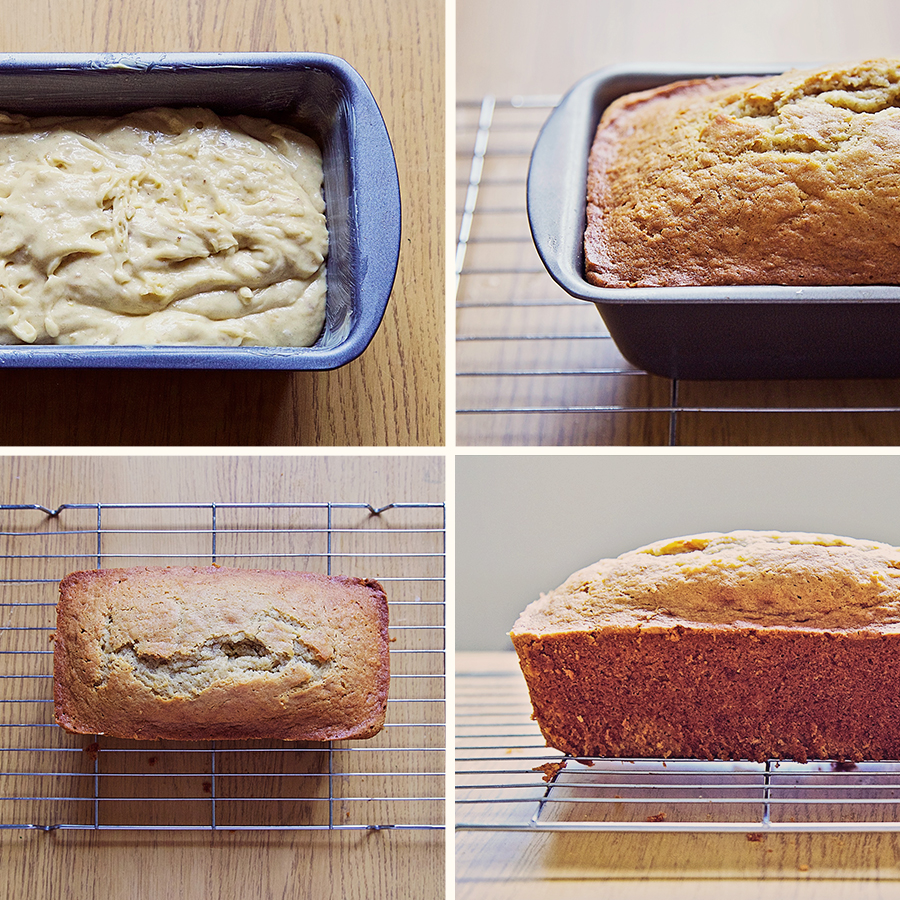 Process of making banana bread