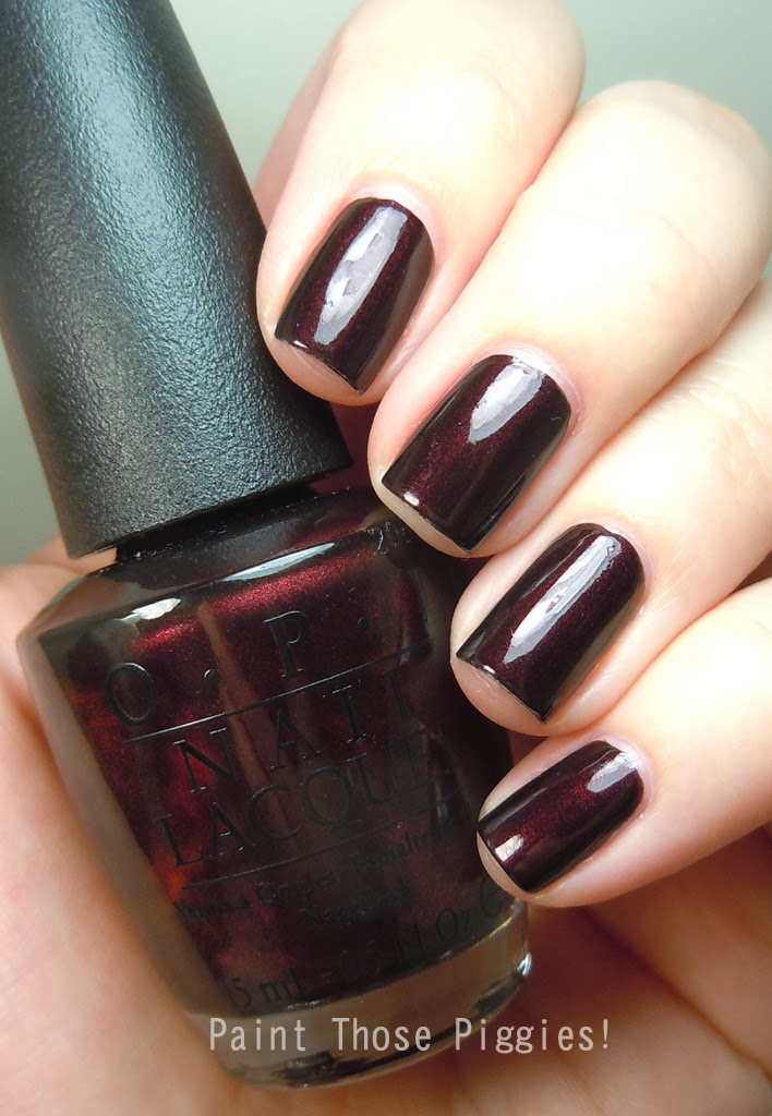 Opi In The Spot Light Pink: Paint Those Piggies!: OPI Midnight In Moscow