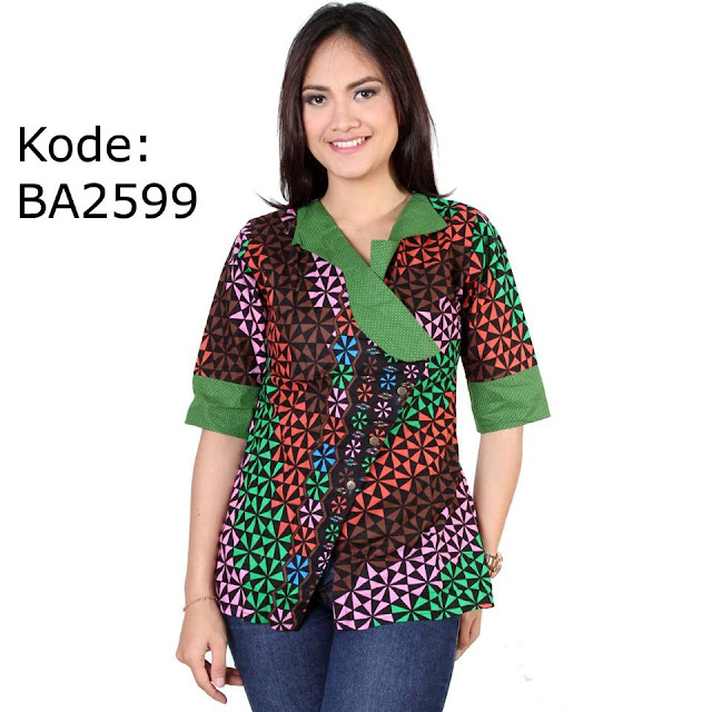 Model Pakaian Batik Kerja Wanita Terbaru