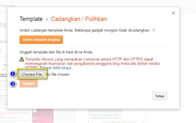 cara upload template blogspot blogger
