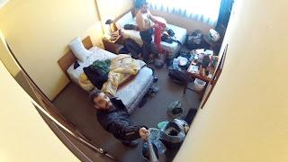 Quarto do hotel em La Paz.