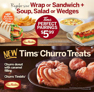 Tim Hortons Menu February 28 – April 17, 2017