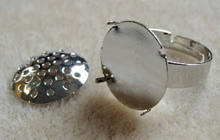 finger ring silver jewellery finding