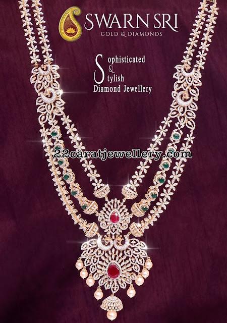 Diamond Long Chains by Swarnsri Jewellers