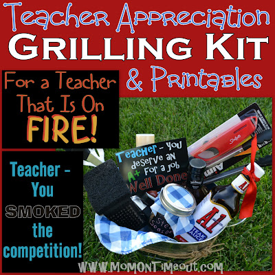 Teacher Appreciation Gift Idea: Grilling Kit | MomOnTimeout.com A fun teacher appreciation gift idea for a male teacher!