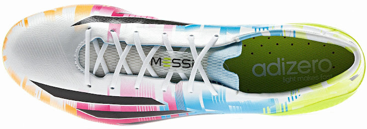 ... comes with black Adidas stripes. The new Messi 2014 Boot comes with  four different colorways on the upper  solar green c07b5bb2ca6d2