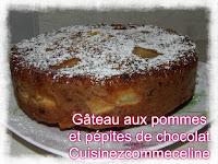 https://cuisinezcommeceline.blogspot.fr/2016/10/gateau-pommes-pepites-de-chocolat.html