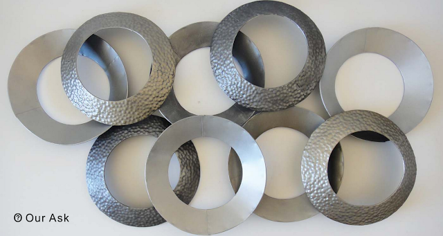Abstract Metal Ring Wall Art