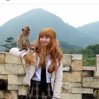 foto terbaru mufida omar nahdi pemeran monyet cantik