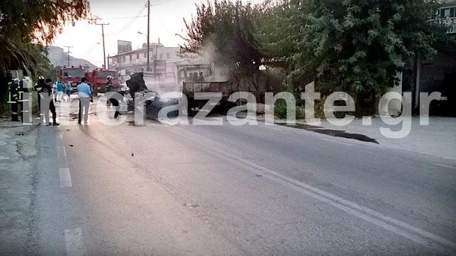 Τραγωδία στην Ζάκυνθο - Απανθρακώθηκε 26χρονος οδηγός