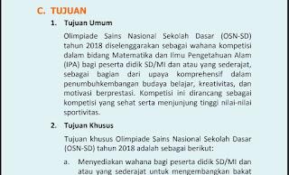 Tujuan Umum dan Khusus diadakannya OSN SD/MI, www.librarypendidikan.com