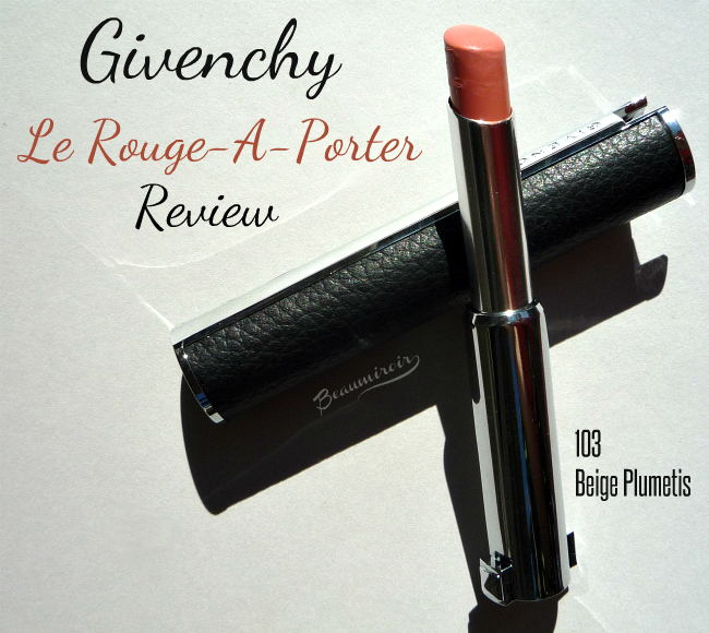Givency Le Rouge-a-Porter in Beige Plumetis: review, photos, swatches