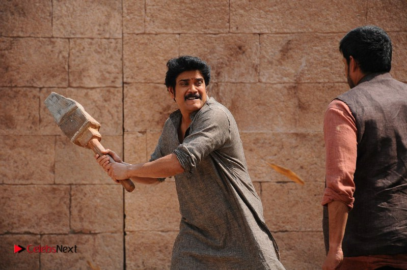 Anushka Shetty Stills in Blue Half Saree from Sokkali Mainar Movie