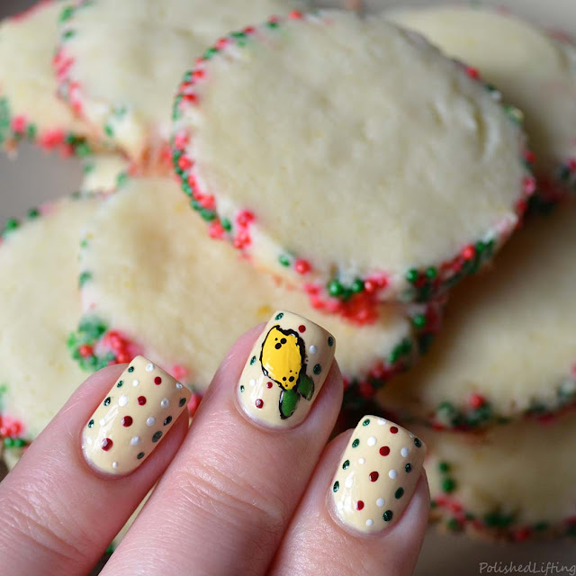 winter lemon nail art