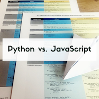 Buy my Python vs. JavaScript Cheat Sheet