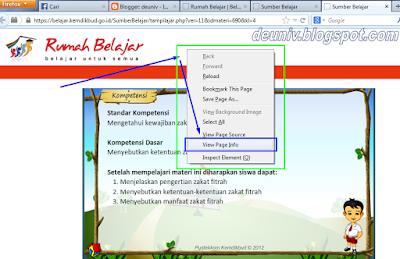 lihat page info rumah belajar