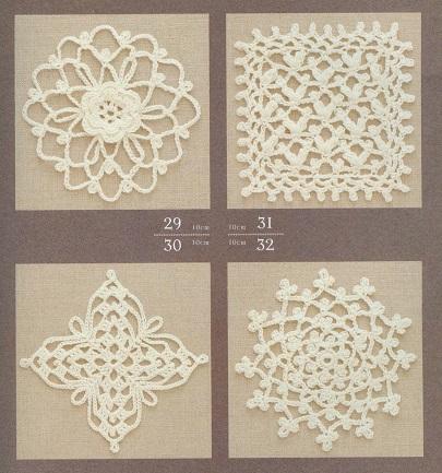 4 Maravilhosos Motivos [Squares] Florais de Crochê Com Gráficos - Nº 10
