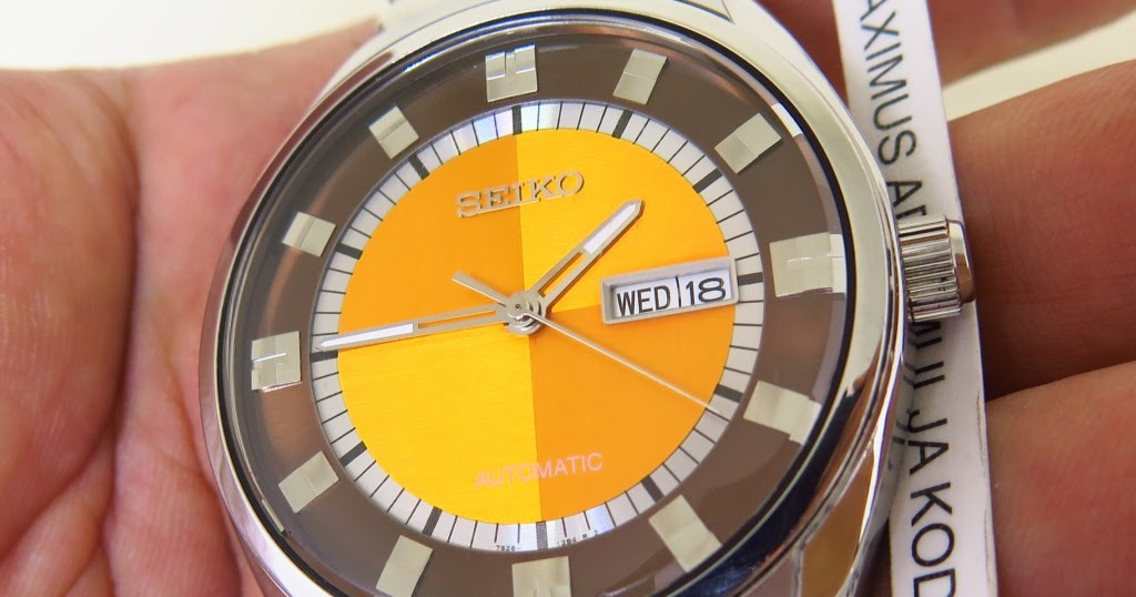 Maximuswatches Jual Beli Jam Tangan Second-Baru Original-Koleksi Jam  Maximus-www.maximuswatches.com  SEIKO RECRAFT SNKN75 ORANGE CHEKERBOARD  PATTERN DIAL ... 94e99891e6