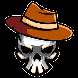 logo tengkorak pakai baret