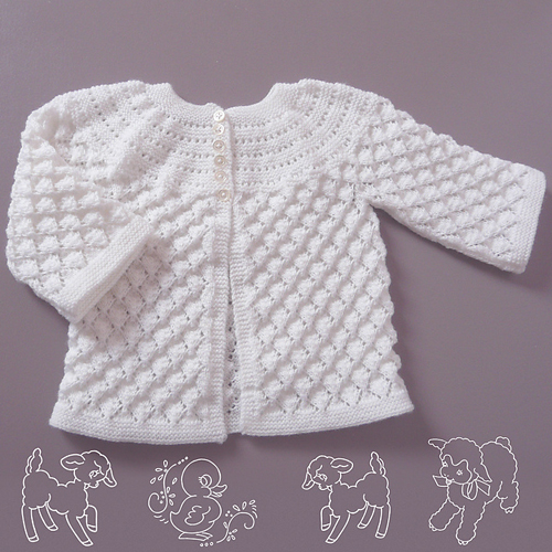 Lucille Knitted Baby Set - Free Pattern