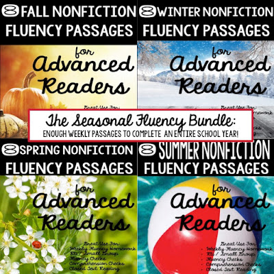 Seasonal Fluency Bundle:  Nonfiction Fluency Passages