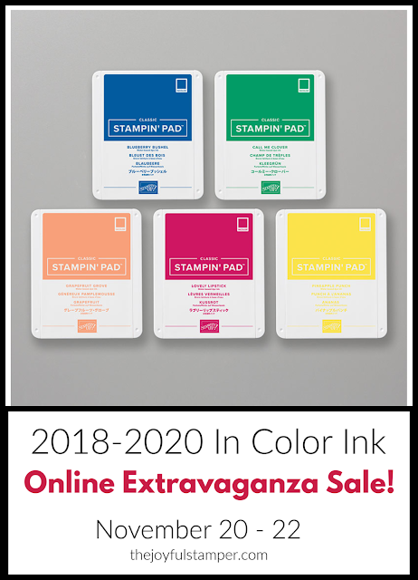 2018-2020 In Color ink pads - Online Extravaganza Sale
