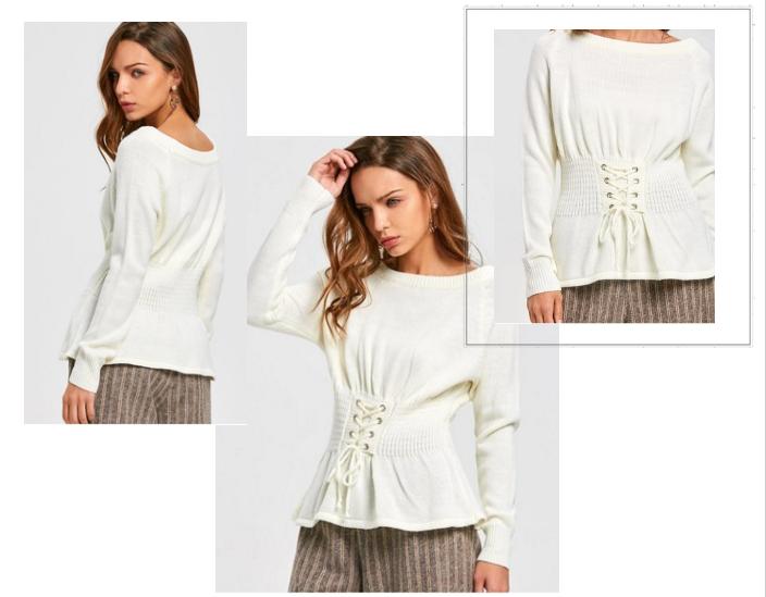 moda, zaful, sweter, biel, wishlist, współpraca