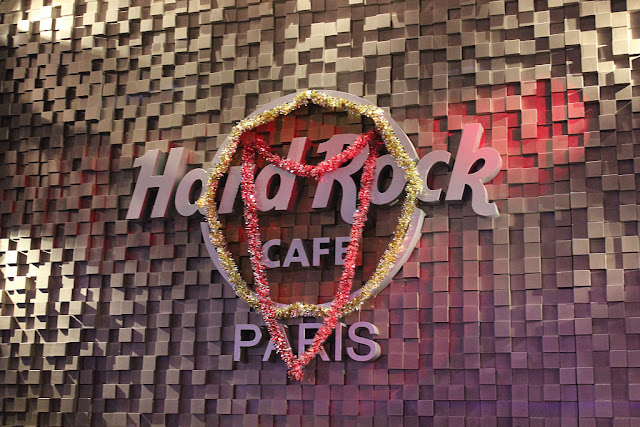 Hard Rock Cafe Paris menu festif restaurant noël christmas