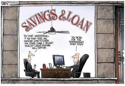 savings and loan crisis The savings and loan crisis was the greatest collapse of us financial institutions since the 1930s from 1986 to 1989, the federal savings and loan insurance.