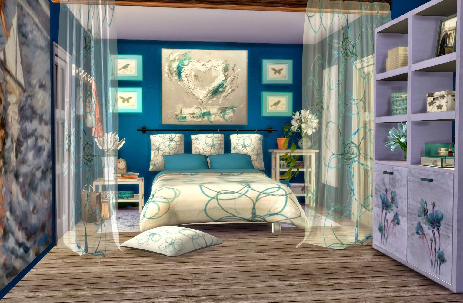 Formentera bedroom sims 4 custom content for Cuartos para ninos sims 4
