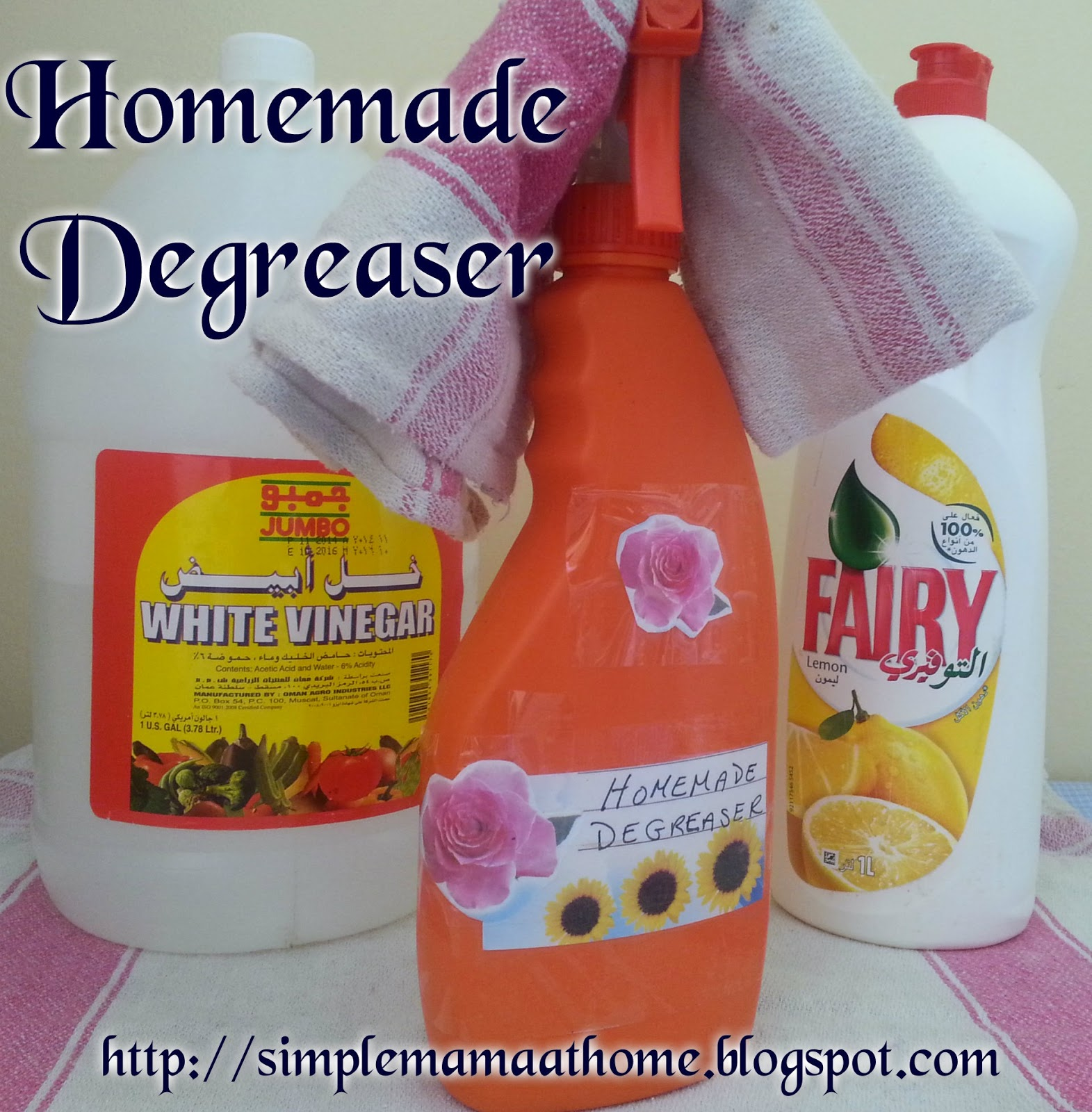 Homemade Degreaser