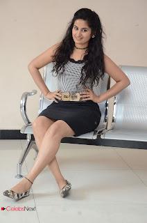 Actress Ankitha Stills in Short Dress at Kali Movie Audio Launch  0088.JPG