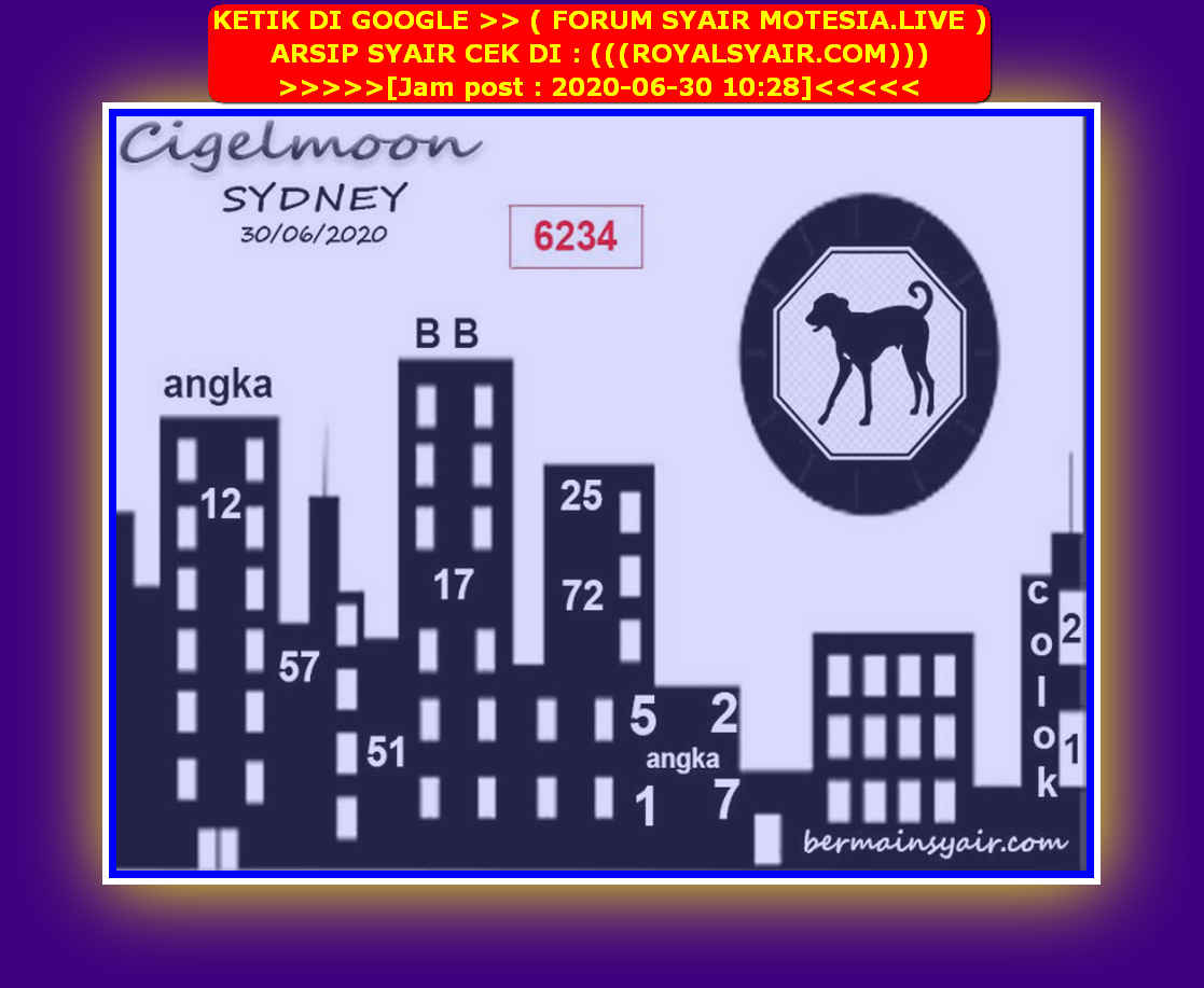 Kode syair Sydney Selasa 30 Juni 2020 211